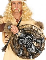 Escudo e espada esqueleto viking