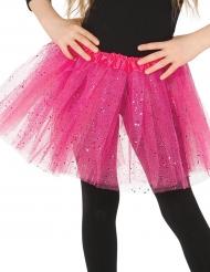 Tutu cor-de-rosa brilhante menina