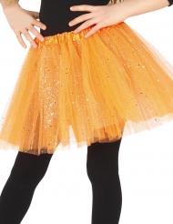 Tutu cor de laranja brilhante menina