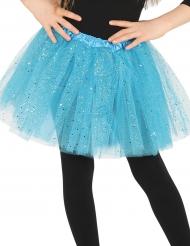 Tutu azul com brilhantes menina