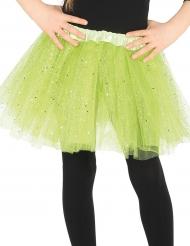 Tutu de cor verde brilhante menina
