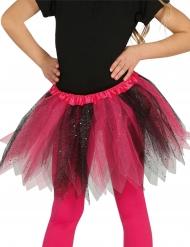 Tutu cor-de-rosa e preto brilhante menina