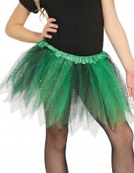 Tutu preto e verde com brilhantes menina