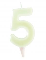 Vela fosforescente número 5