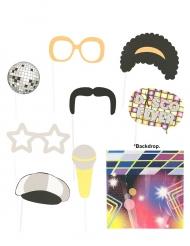 Kit Photobooth Disco 9 acessórios