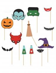 Kit photobooth 12 peças Halloween