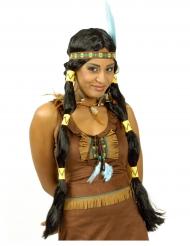 Peruca comprida índia mulher