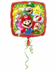 Balão alumínio Super Mario™ 43 x 43 cm