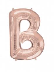 Balão alumínio Letra B cor-de-rosa gold