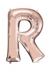 Balão alumínio Letra R cor-de-rosa gold