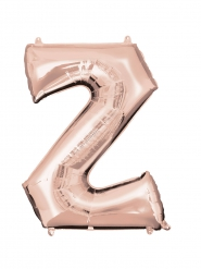 Balão alumínio Letra Z cor-de-rosa gold