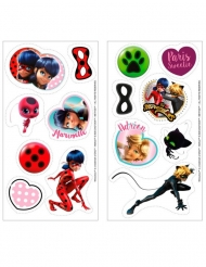 16 mini discos em açúcar Ladybug™ 3,4 cm