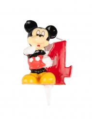 Vela de aniversário número 4 Mickey™