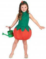 Disfarce vestido morango menina