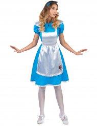 Disfarce Alice no País das maravilhas mulher