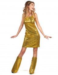 Disfarce Disco dourado mulher