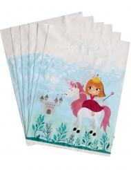 6 Sacos de festa Princesa 15 x 23 cm