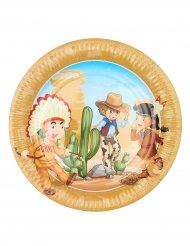 6 Pratos Cowboy e Indio
