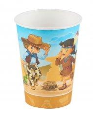 6 copos cowboy e índio 25 cl
