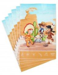 6 sacos-prenda cowboy e índio 15 x 23 cm