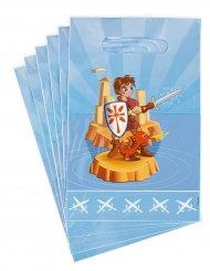 6 Sacos de festa Cavaleiro 15 x 22.5 cm