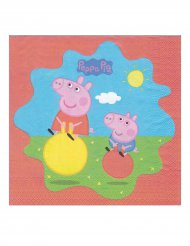 20 Guardanapos de papel Peppa Pig™ 33 x 33 cm