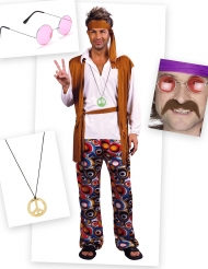 Pack disfarce hippie homem