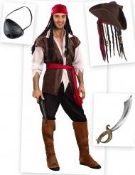 Pack disfarce pirata homem