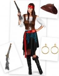 Pack disfarce pirata mulher