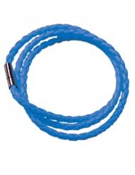 Pulseira entrançada azul fluo adulto