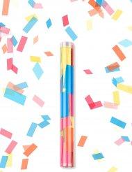 Canhão de confetis retangulares coloridos