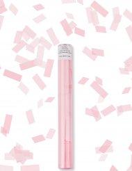 Canhão de confetis retangulares cor-de-rosa