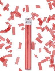 Canhão de confetis retangulares vermelhos