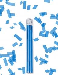 Canhão de confetis retangulares azuis turquesa