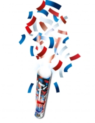 Canhão de confetis retangulares tricolores