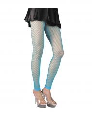 Collants rede sem pés turquesa mulher