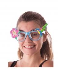 Óculos flores de hibisco havaí adulto