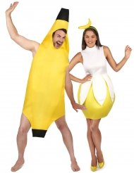 Disfarce de casal banana adulto