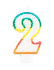 Vela de aniversário número 2