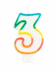 Vela de aniversário número 3