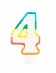 Vela de aniversário número 4
