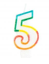 Vela de aniversário número 5