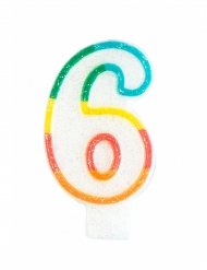 Vela de aniversário número 6