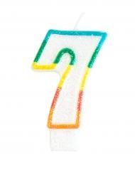Vela de aniversário número 7 - 7.5 cm