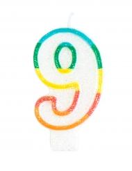 Vela de aniversário número 9