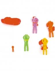Avessório para pinhata mini paraquedista 5 cm modelo aleatório
