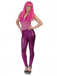 Leggings sereia cor-de-rosa mulher