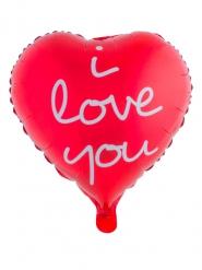 Balão alumínio coração vermelho I Love You