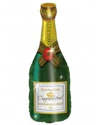 Balão alumínio garrafa de champanhe