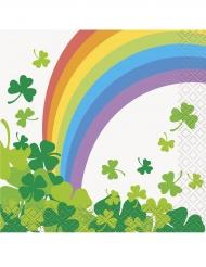 16 Guardanapos pequenos de papel Arco-íris Dia de São Patrício